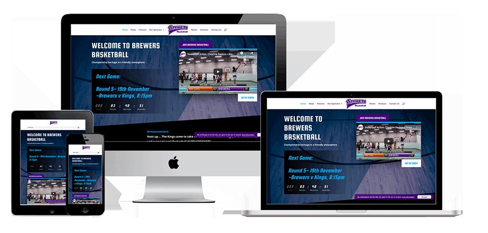 Brewers Basketball Website Mockup